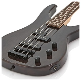 Lexington Bass Guitar by Gear4music, Tansparent Black