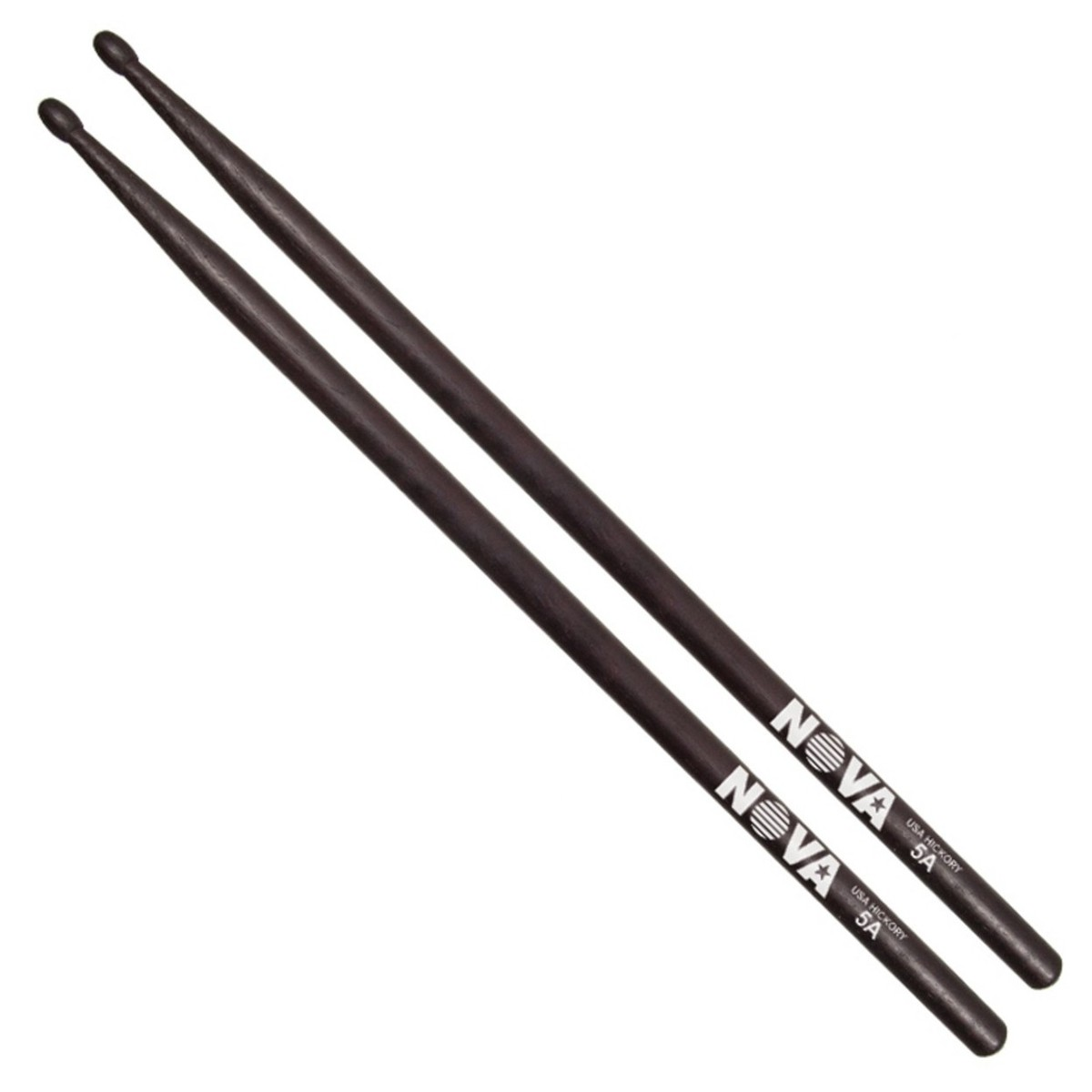 vic firth nova 5a hickory drumsticks black finish at gear4music. Black Bedroom Furniture Sets. Home Design Ideas