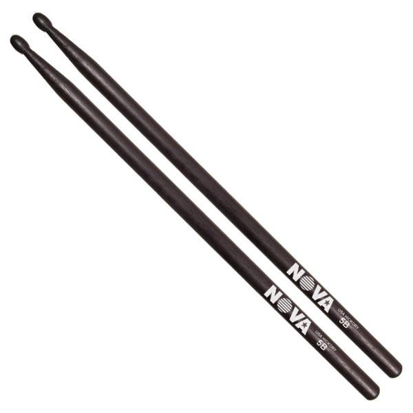 Vic Firth NOVA 5B Hickory Drumstick, Black Finish