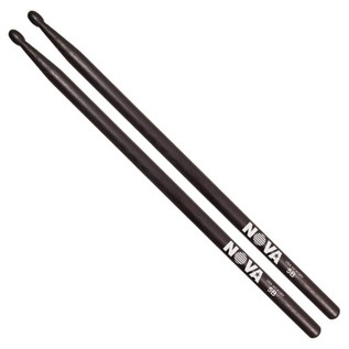 Vic Firth NOVA 5BN Nylon Tip Drumstick, Black Finish