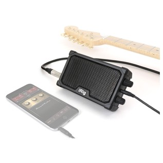 IK Multimedia iRig Nano Amp - Lifestyle (Guitar, Phone Not Included)