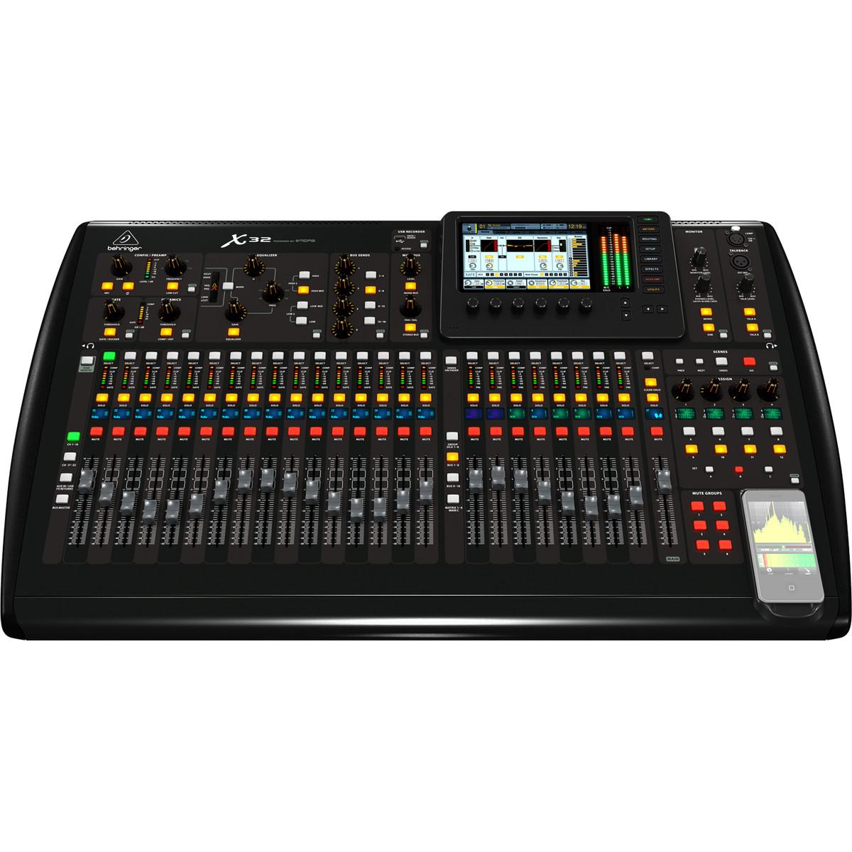 Behringer x32 console de mixage num rique bo te ouverte de canal 32 - Console numerique behringer ...