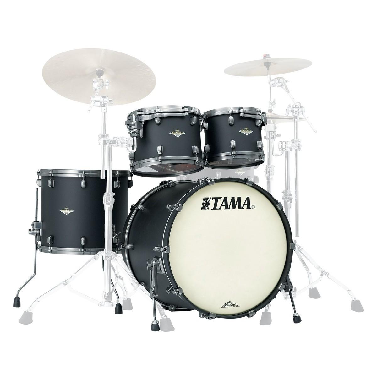 tama starclassic bubinga 22 4pc shell pack flat black at gear4music. Black Bedroom Furniture Sets. Home Design Ideas
