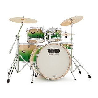 WHD Birch 5 Piece American Fusion Complete Drum Kit, Green Fade