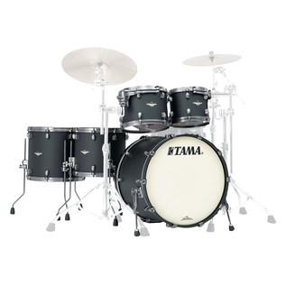 Tama Starclassic Bubinga Flat Black shell pack without cymbals