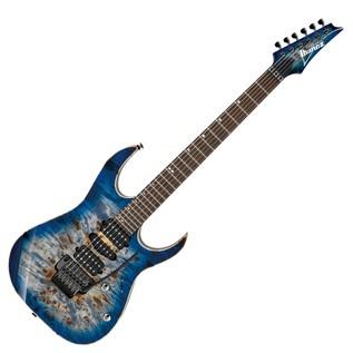 Ibanez RG1070PBZ Premium Electric Guitar, Cerulean Blue Burst Front View