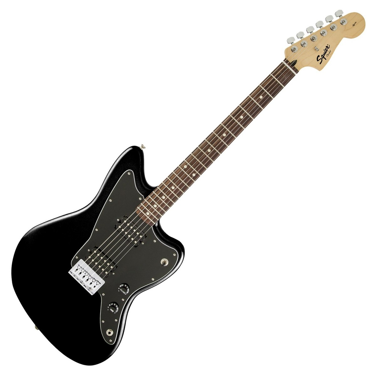 squier by fender affinity jazzmaster hh black at. Black Bedroom Furniture Sets. Home Design Ideas