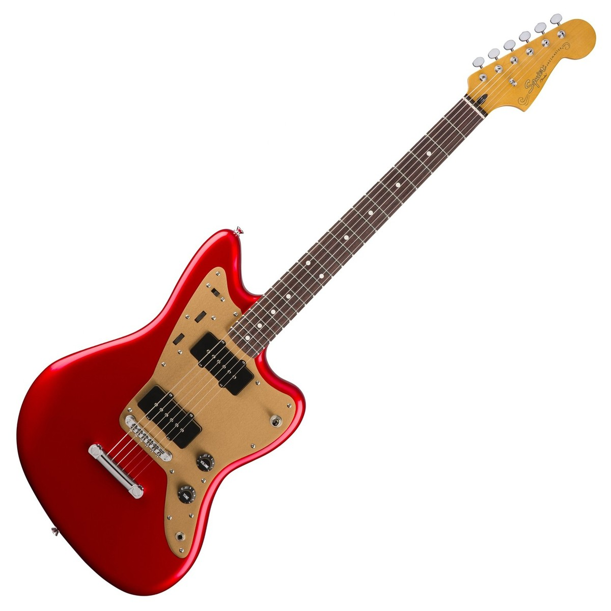 squier by fender deluxe jazzmaster st candy apple red at. Black Bedroom Furniture Sets. Home Design Ideas
