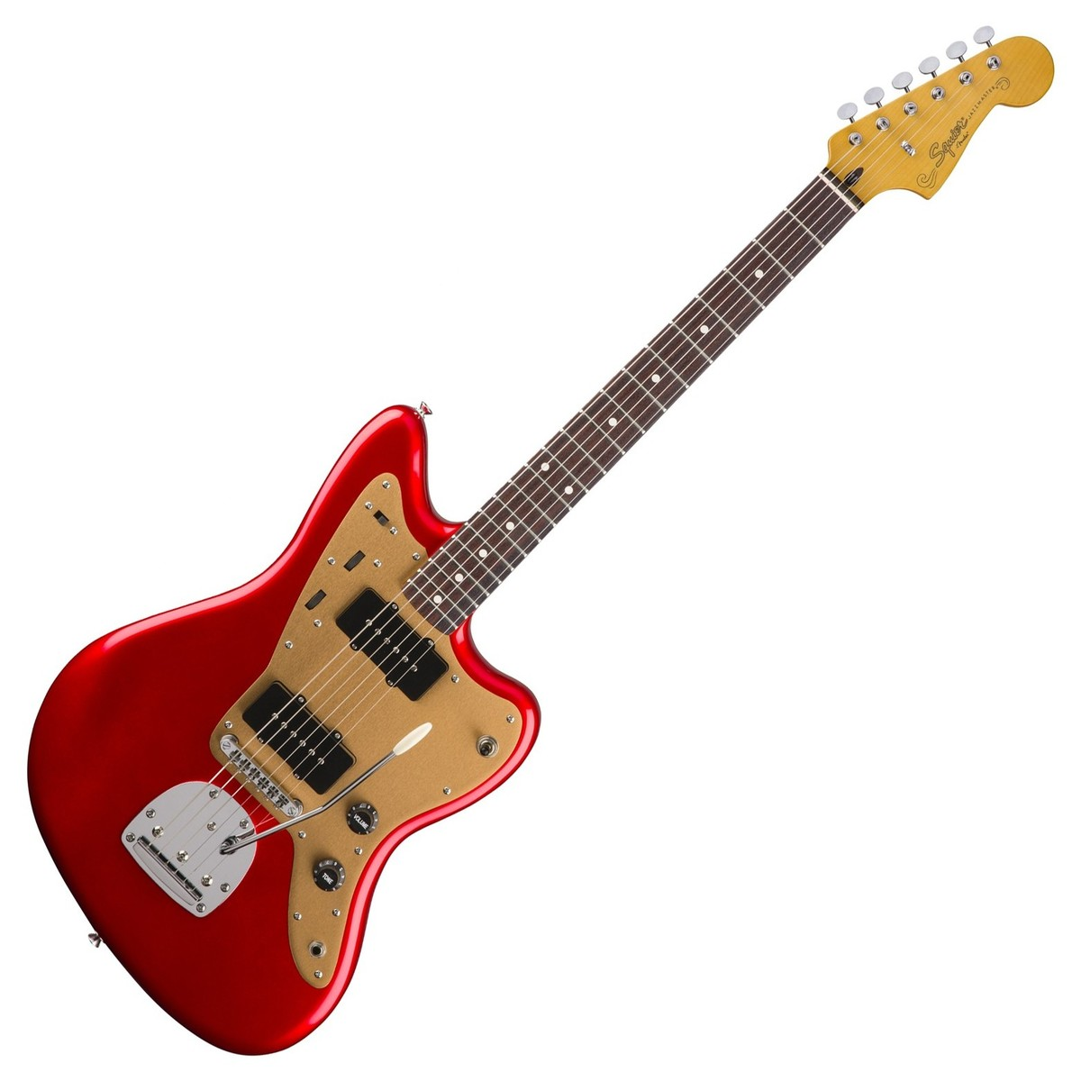 Squier By Fender Deluxe Jazzmaster With Tremolo Candy