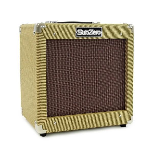 San Francisco Semi Acoustic Guitar + SubZero V35RG Amp Pack, Wine Red