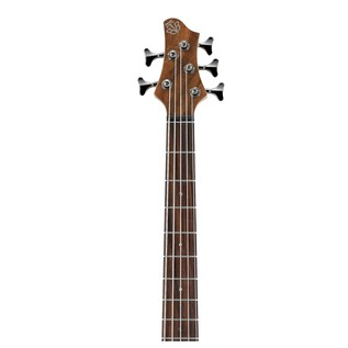 Ibanez BTB745 5 String Bass Guitar, Natural Low Gloss Neck View