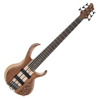 Ibanez BTB746 6 String Bass Guitar, Natural Low Gloss Front View