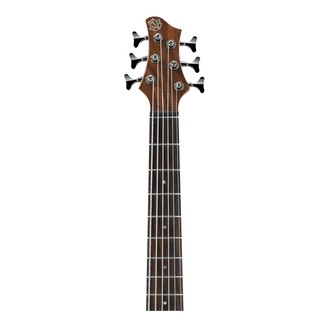 Ibanez BTB746 6 String Bass Guitar, Natural Low Gloss Neck View