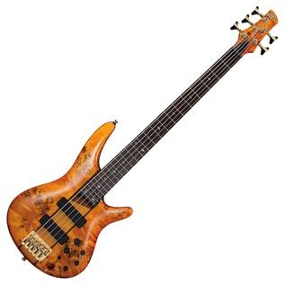 Ibanez SR805 5-String Bass Guitar, Amber