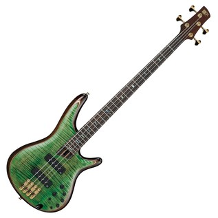 Ibanez SR1400 Premium Bass Guitar, Mojito Lime Green Front View