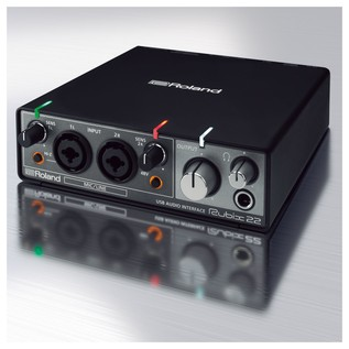 Rubix22 Portable USB Audio Interface - Angled With Background