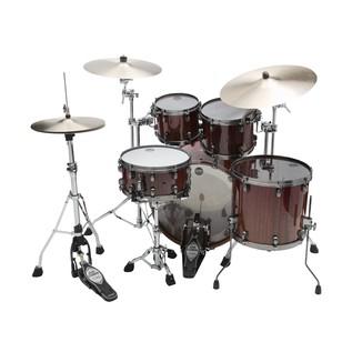 Tama Starclassic Bubinga Drum Kit Crimson Tigerwood Fade