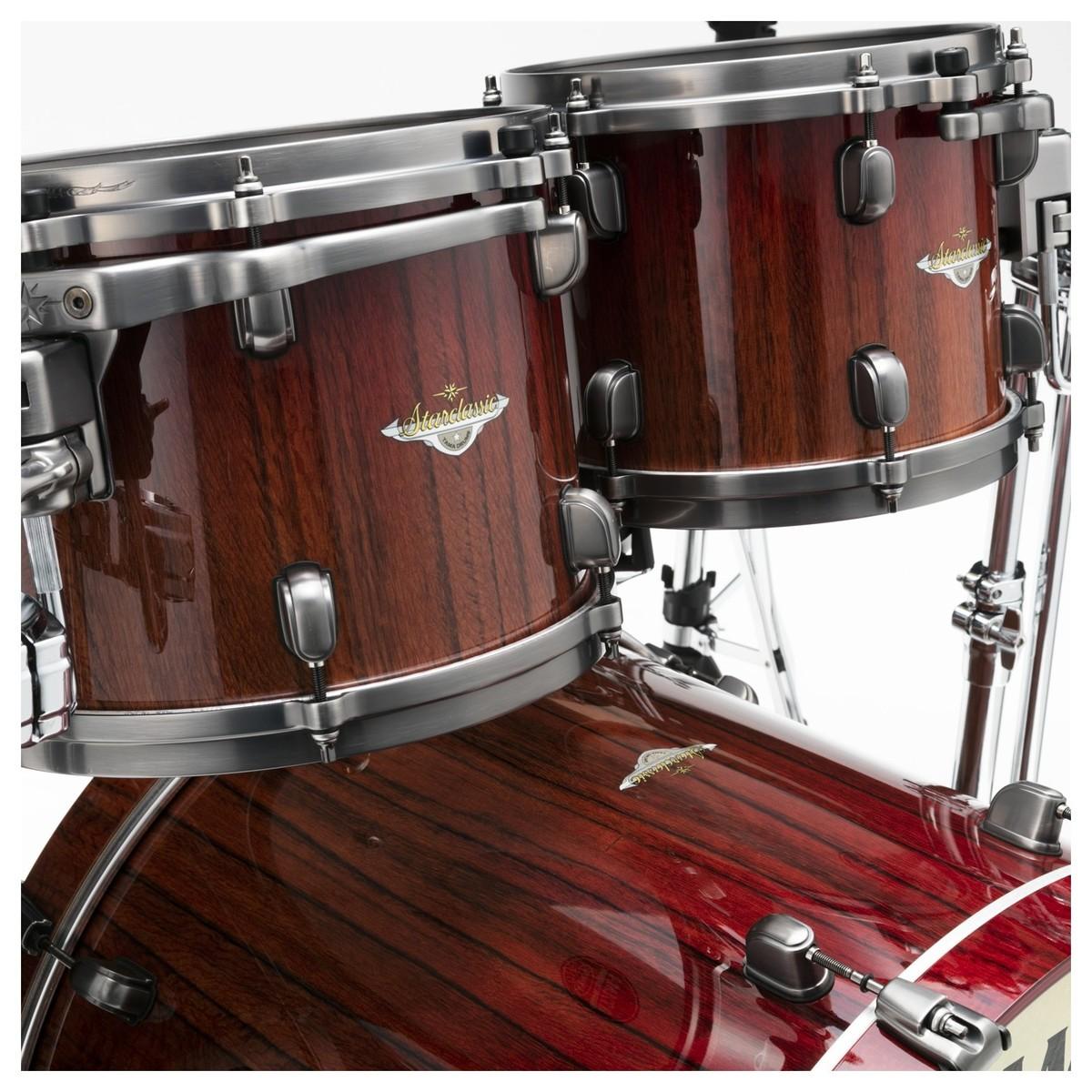 tama starclassic bubinga 22 4pc shell pack crimson tigerwood fade at gear4music. Black Bedroom Furniture Sets. Home Design Ideas