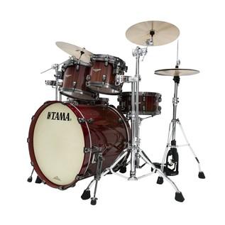Tama Starclassic Bubinga Drum Kit Crimson Tigerwood Fade side view