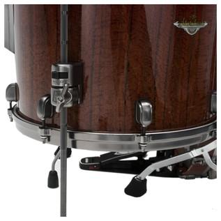 Tama Starclassic Bubinga Drum Kit Crimson Tigerwood Fade floor tom