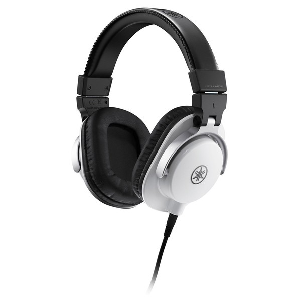 Yamaha HPH-MT5 Studio Monitor Headphones, White - Angled