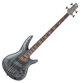 Ibanez SRFF800 Multi Scale Bass Guitar, Black Stained Front View
