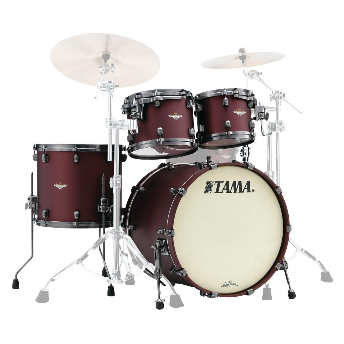 tama starclassic bubinga 22 4pc shell pack flat burgundy metallic at gear4music. Black Bedroom Furniture Sets. Home Design Ideas