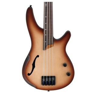 Ibanez SRH500F Fretless Semi Hollow Bass Guitar, Natural Brown Body