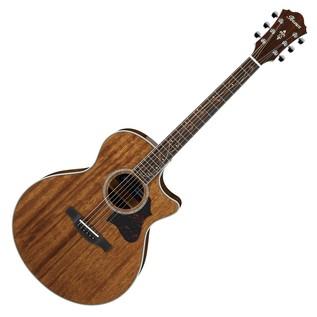 Ibanez AE245 Mahogany Electro Acoustic Guitar, Natural High Gloss Front View