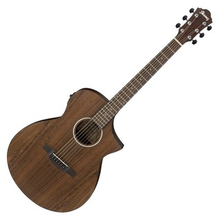 Ibanez AEWC31BC Mahogany Electro Acoustic Guitar, Open Pore Natural Front View