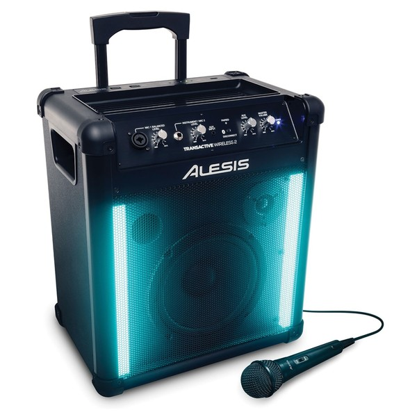 Alesis TransActive Wireless 2 Portable PA System - Angled
