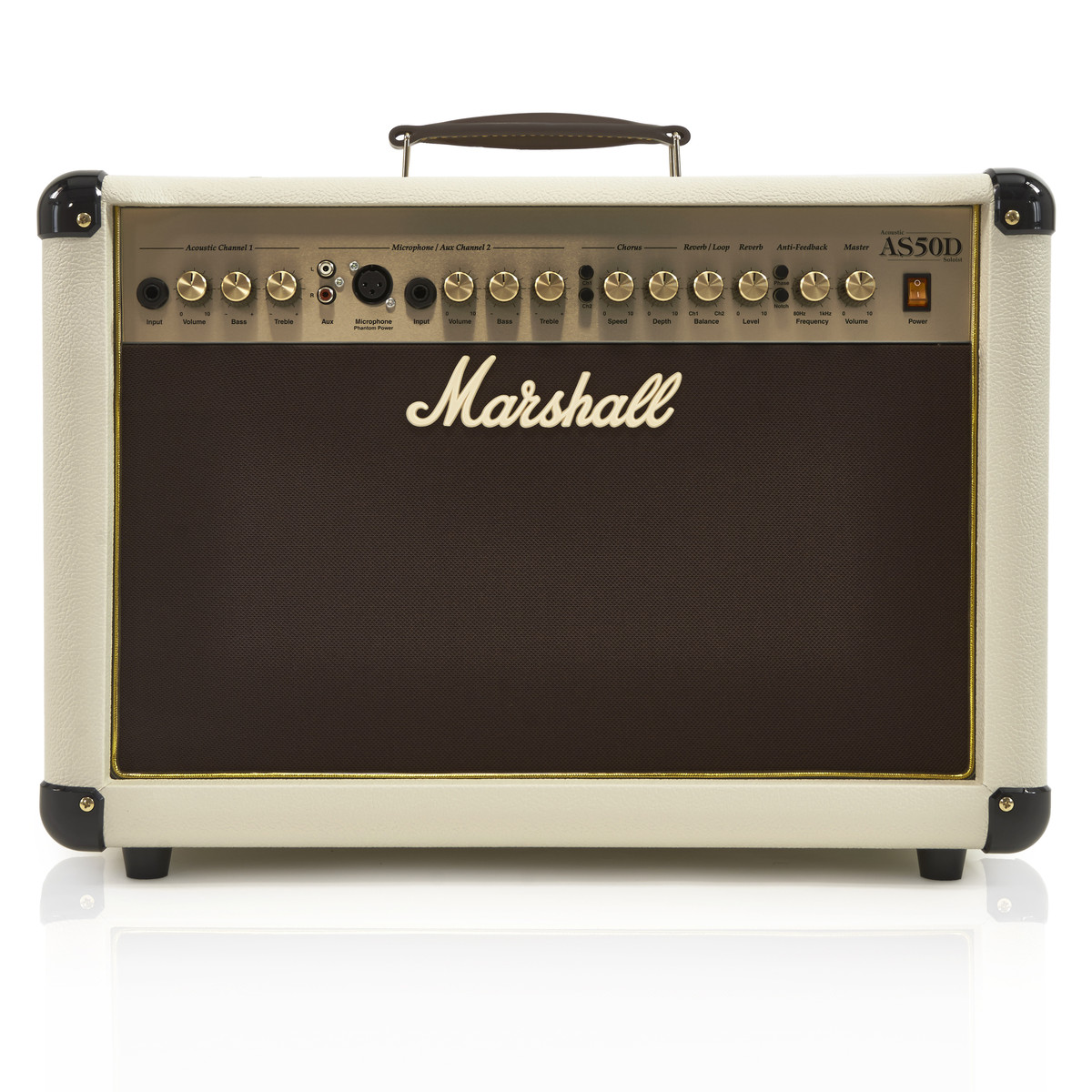 marshall as50dc acoustic combo amp limited edition cream box opened at gear4music. Black Bedroom Furniture Sets. Home Design Ideas