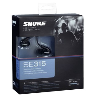 Shure SE315 Earphones Front Box