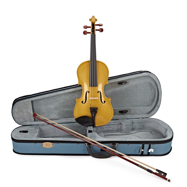Stentor Harlequin Violin Outfit, Yellow, 1/4 main