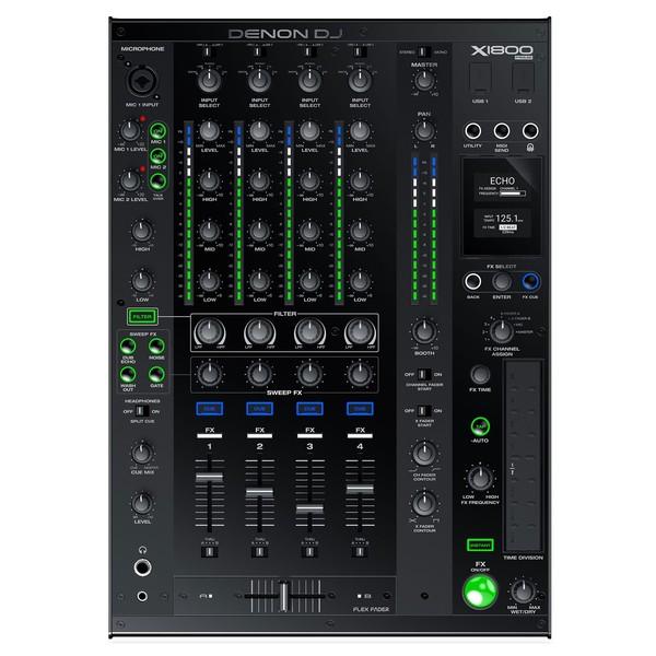 Denon DJ X1800 Digital DJ Mixer - Top