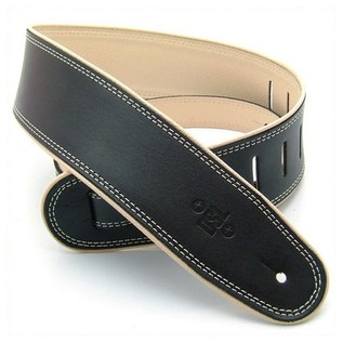 DSL Rolled Piping Leather Guitar Strap 2.5