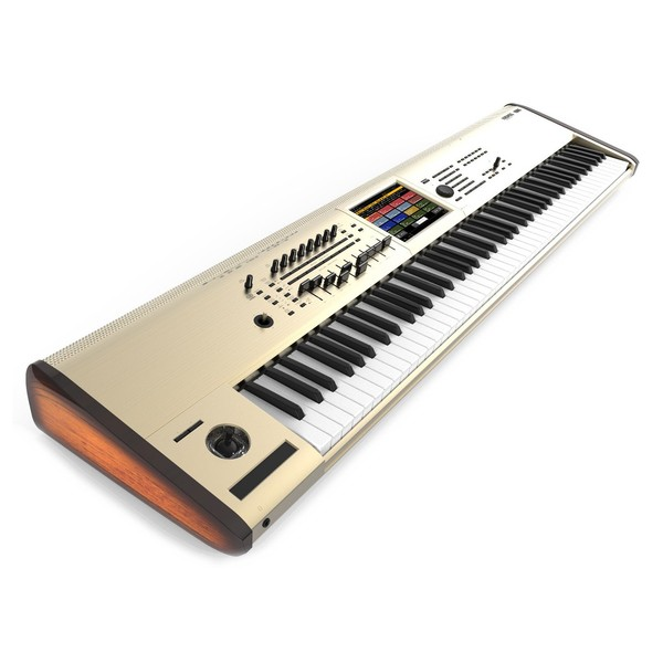 Korg KRONOS 88 Key Music Workstation Limited Edition, Gold - Angled