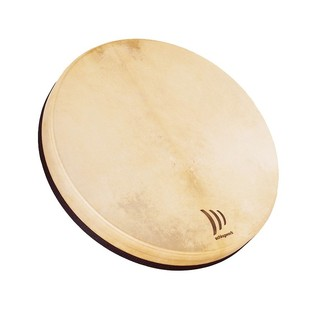 Authentic Sounding Frame Drum Includes Cross Frame  Natural Goatskin Surface Integrated Tuning Screws Produces