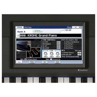 Korg Krome 88 workstation platinum screen