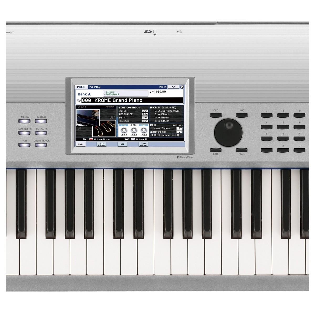 korg krome 88 88 key music workstation platinum at gear4music. Black Bedroom Furniture Sets. Home Design Ideas