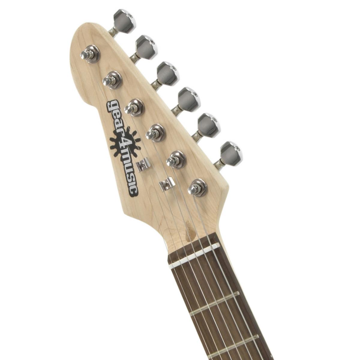 3/4 LA Linkshänder E-Gitarre von Gear4music, Black - Box geöffnet ...