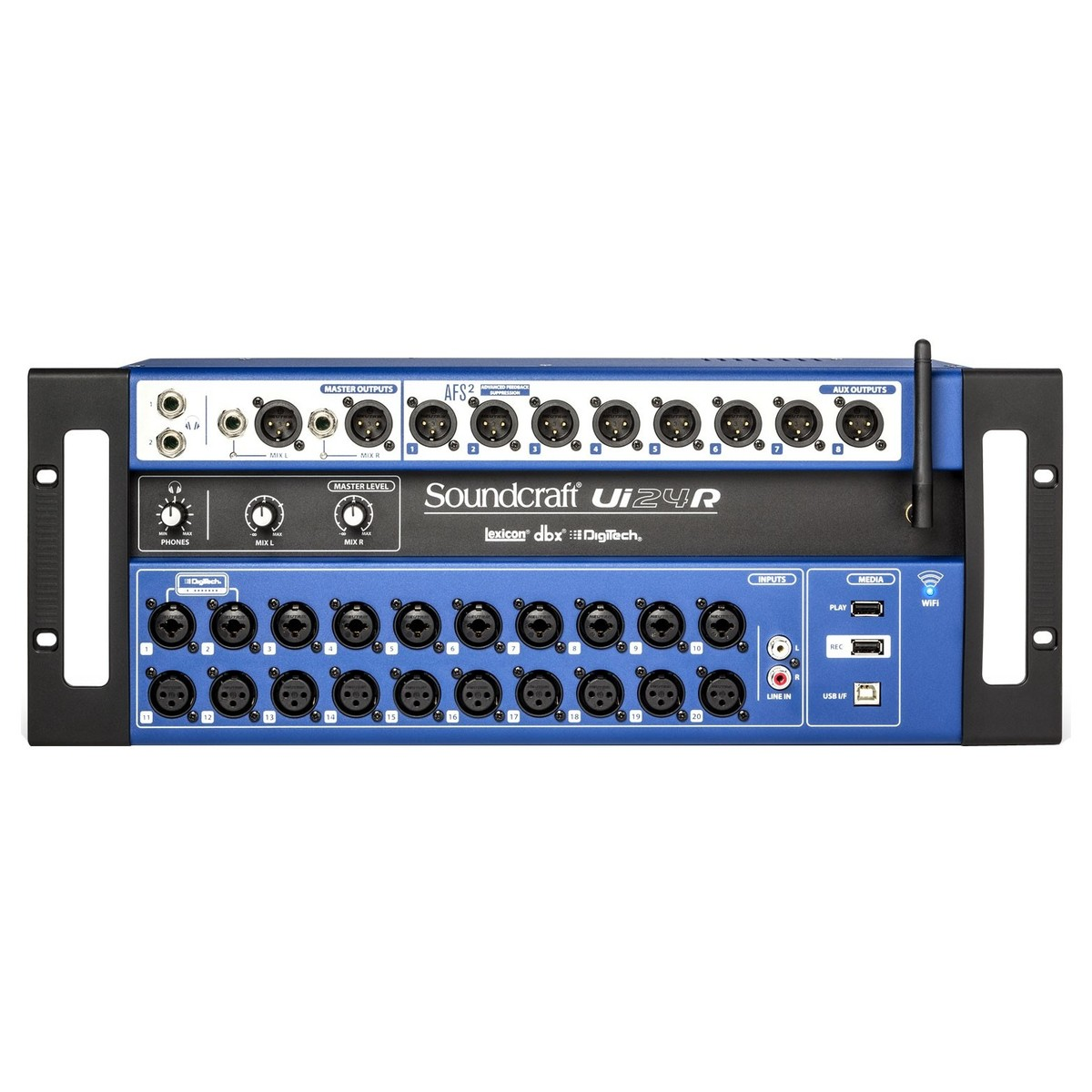 Soundcraft Ui24r Digital Rack Mixer At Gear4music Dress Wires A V Installation Patch Panel To Switch On Recording System Front Loading Zoom