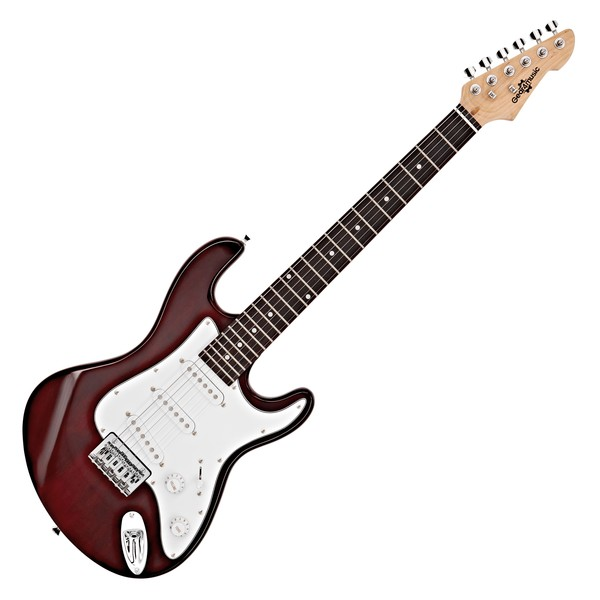 3/4 LA Electric Guitar by Gear4music, Wine Red