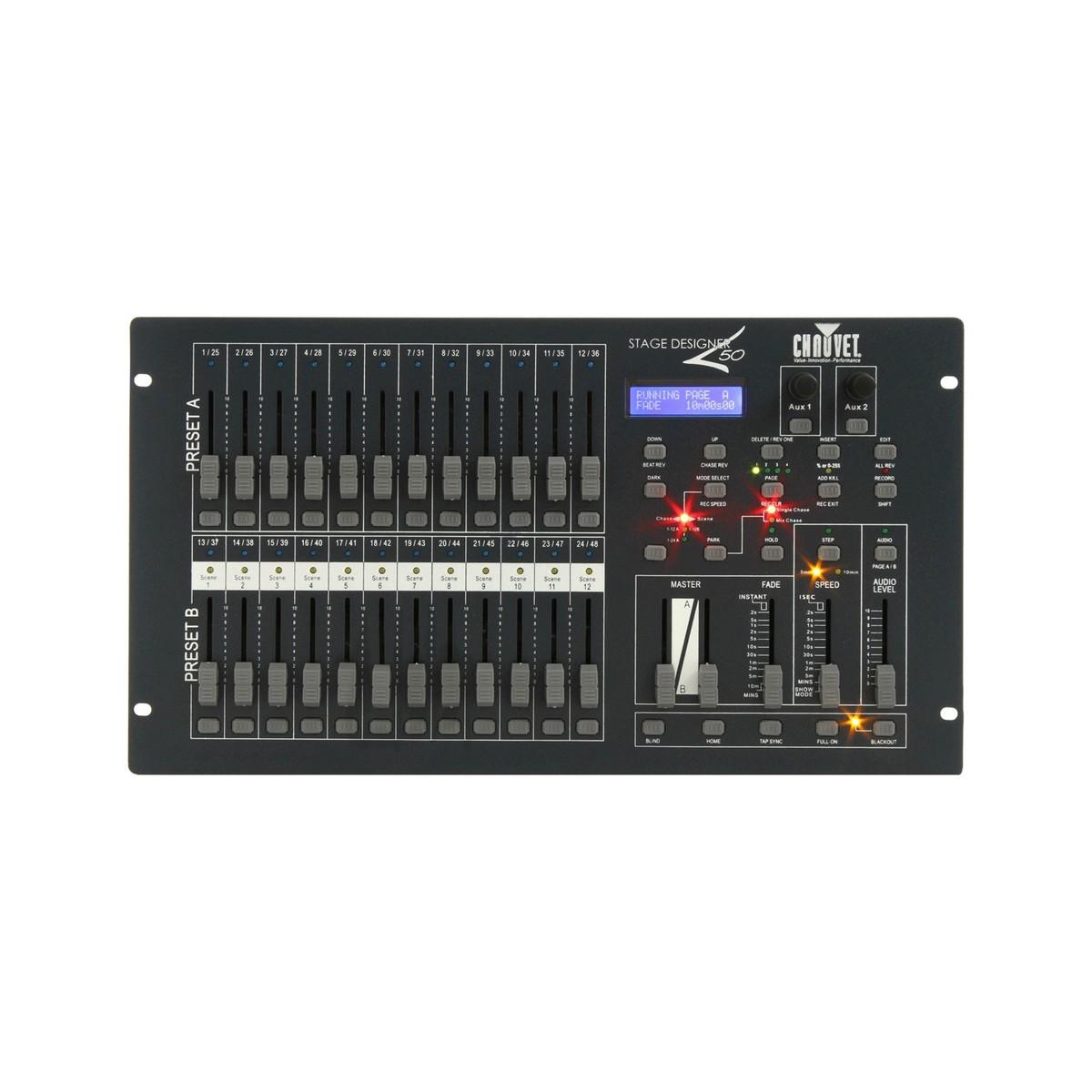 chauvet stage designer 50 lighting controller b stock at gear4music. Black Bedroom Furniture Sets. Home Design Ideas