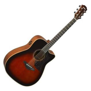 Yamaha A3M Mahogany Electro Acoustic Guitar, Tobacco Brown Sunbusrst main