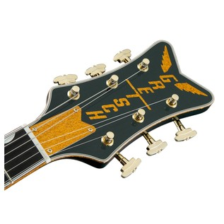 Gretsch G6134T-CDG-LTD16 Limited Edition Penguin, Cadillac Green Headstock Front