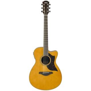 Yamaha AC1M Mahogany Electro Acoustic Guitar, Vintage Natural front