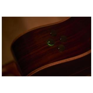 Yamaha AC5M Mahogany Electro Acoustic Guitar, Vintage Natural controls