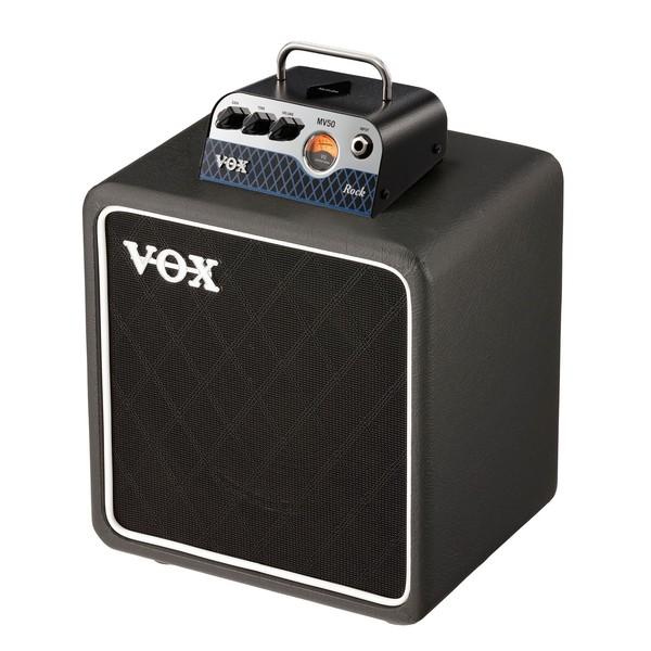 Vox MV50 CR Compact Guitar Amp Head& Cab Bundle Combined