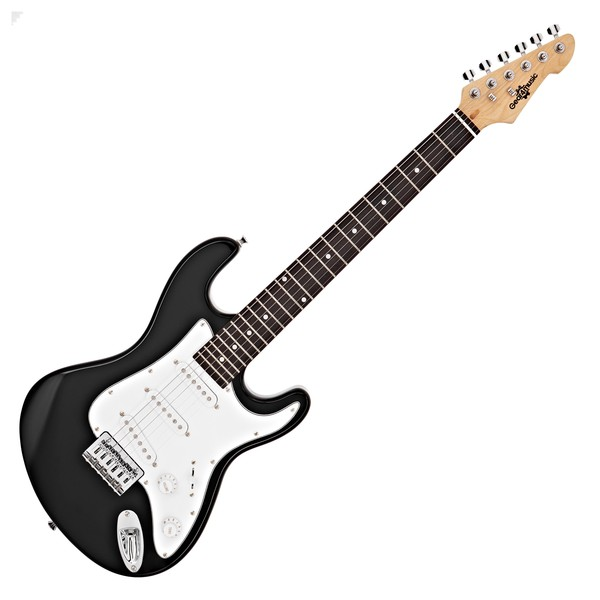 3/4 LA Electric Guitar by Gear4music, Black